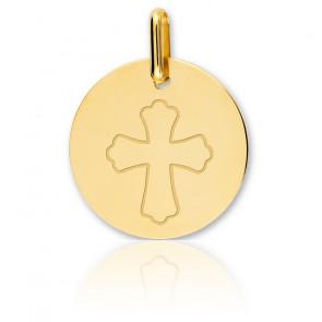 Medalla Cruz Oro Amarillo