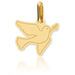 Colgante Paloma Oro Amarillo 18K