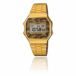 Reloj Casio Collection Camuflaje Marrón - Gold - A168WEGC-5EF