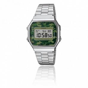 3edf511400ed Casio Vintage Reloj Casio Collection Camuflaje Verde - Silver - A168WEC-3EF
