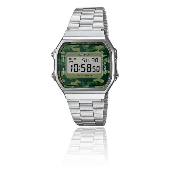 4f32b42c1f66 Reloj Casio Collection Camuflaje Verde - Silver - A168WEC-3EF