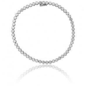 Pulsera Lluvia Oro Blanco 9K & Diamantes 2,91K