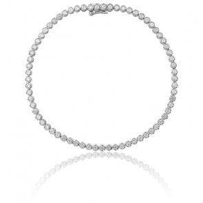 Pulsera Lluvia Oro Blanco 9K & Diamantes 1,52K