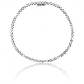 Pulsera Lluvia Oro Blanco 18K & Diamantes 1,52K