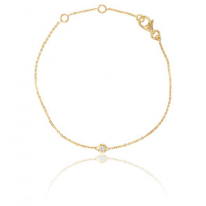 Pulsera Bright Oro Amarillo 18K & Diamante 0,05K