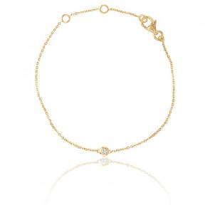 Pulsera Bright Oro Amarillo 9 quilates y Diamante 0,05 ct