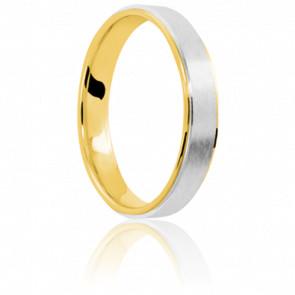 Alianza Jensen 4 mm Platino y Oro Amarillo