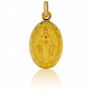 Medalla Virgen Milagrosa Contorno motivo floral
