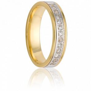 Alianza Nata 3 mm Oro Amarillo & Diamantes