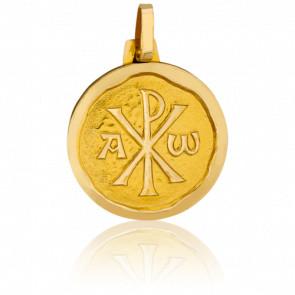 Medalla Cristo Crismón Contorno facetado