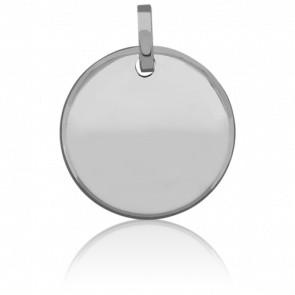 Medalla Disco Lunar Oro Blanco