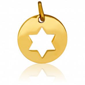 Medalla calada Estrella de David