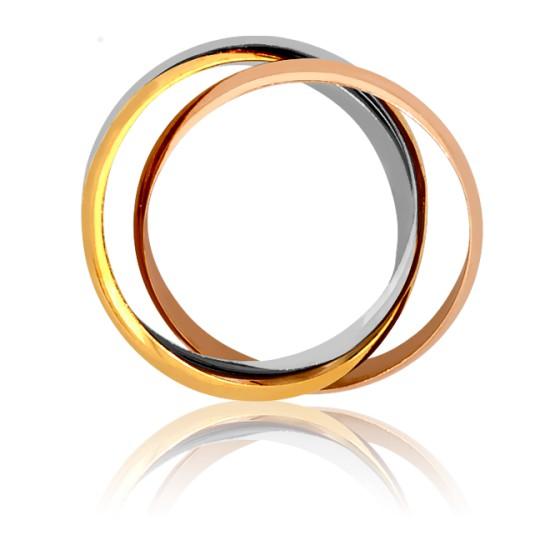 086648c2b384 Colgante de oro tricolor con diseño circulos - Emanessence - Ocarat
