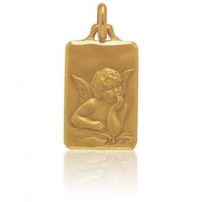 Medalla Rectangular Ángel Rafael Oro Amarillo 18K