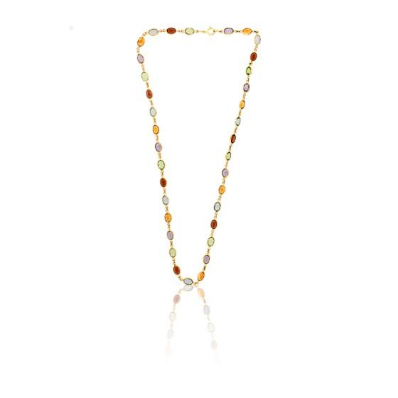7a8fd819aec8 Collar de Oro Amarillo y piedras finas - Allegoria - Ocarat