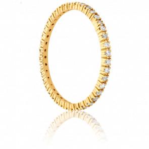 Alianza Fine Oro Amarillo y Diamantes