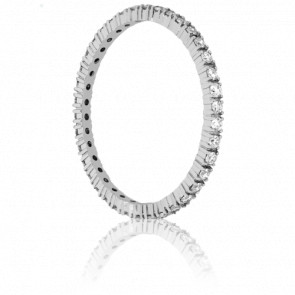 Alianza Fine Oro Blanco y Diamantes