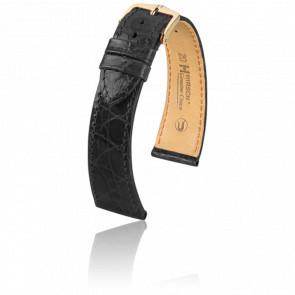Correa Genuine Cocodrilo Negro - Ancho 18 mm