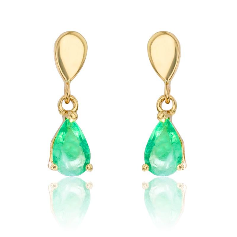 c28a3323f76c Pendientes oro amarillo y esmeraldas - Allegoria - Ocarat