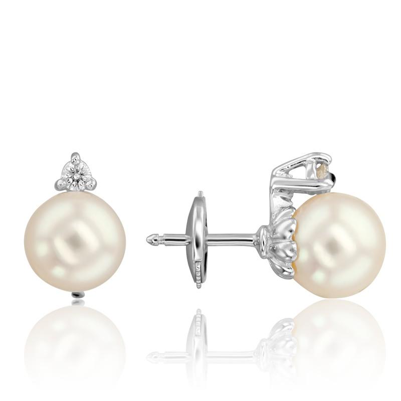 3cb771936b39 Pendientes con Perlas y diamantes Saguaro - Porchet - Ocarat