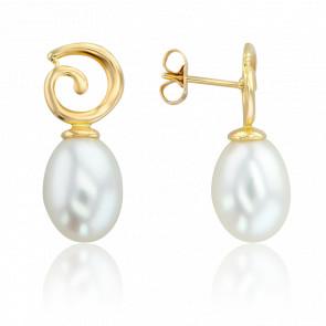 be2c3f834cf9 Pendientes de Boda Oro Blanco Diamantes y Perlas de Poema - Ocarat