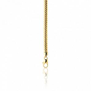 Pulsera cadena inglesa 16cm hueca Oro Amarillo 18k