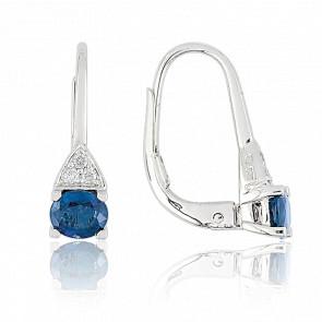 Pendientes Azul Pasión & Diamantes