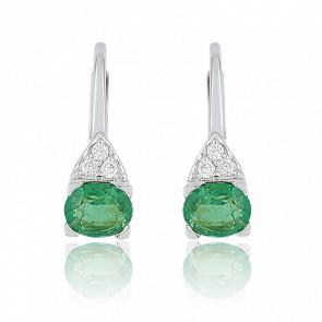 Pendientes Esmeraldas & Diamantes