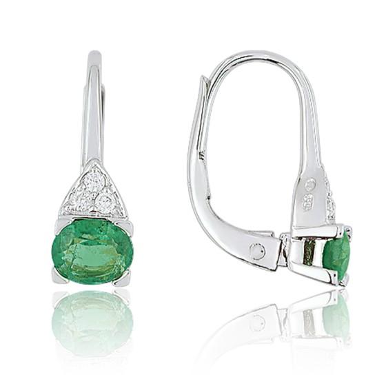 c78bde73e8f8 Pendientes Oro Esmeraldas y Diamantes - Ocarat