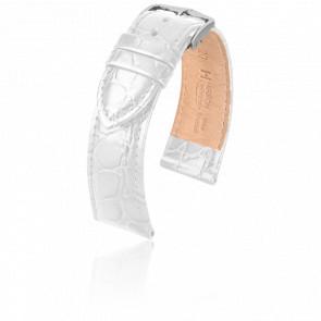 Correa Crocograin Blanca - Ancho 18 mm