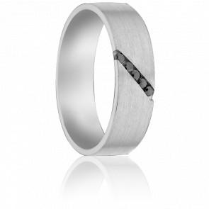 Alianza Adson Paladio y Diamantes Negros 5 mm