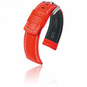 Correa Carbon Rojo - Ancho 20 mm