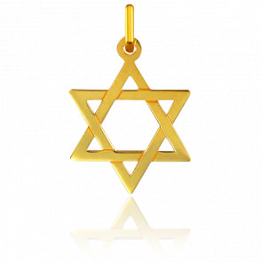 Colgante Estrella de David 22 x 31 mm Oro Amarillo 9K