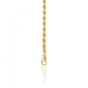 81a5a910f01e Cadena Cuerda Trenzada maciza 70 cm Oro Amarillo