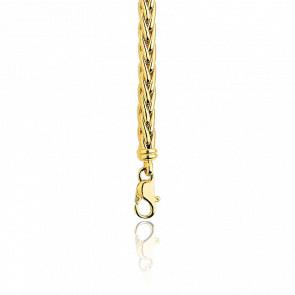 Cadena de Espiga Hueca 65 cm Oro Amarillo 18 kt