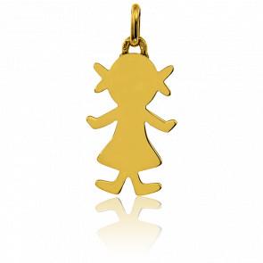 Colgante Les Petits Trésors Niña Oro Amarillo