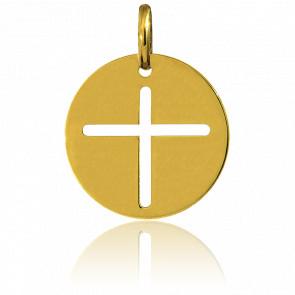 Medalla Redonda Cruz Ø16 mm
