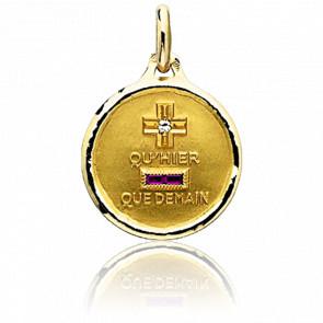 Medalla de l'Amour Circular Oro Amarillo 18K