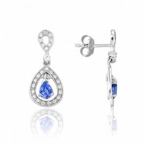Pendientes Kapi Zafiro & Diamantes