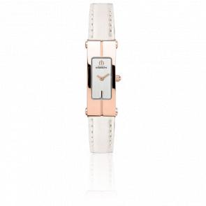Reloj Lingot Oro Rosa Correa Blanca 1055/PR12BLA
