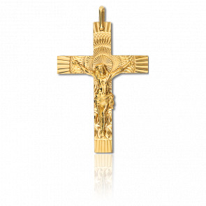 Cruz Cristo 30 x 42 mm Oro Amarillo 18K