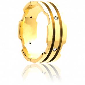 Anillo Hector Oro Amarillo y Diamantes