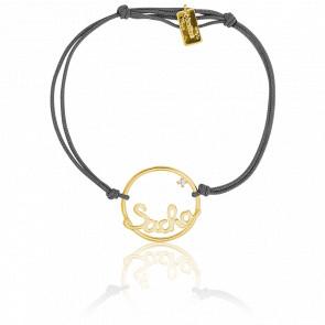 Pulsera Modelo Grande Círculo Sacha Cordón Oro Amarillo