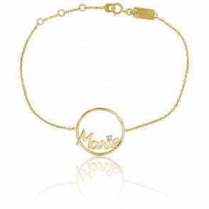 Pulsera Modelo Grande Círculo Marie Oro Amarillo