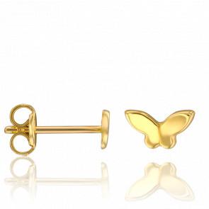 Pendientes Mariposas Oro Amarillo 18K