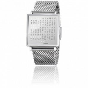 Reloj Qlocktwo W Fine Steel