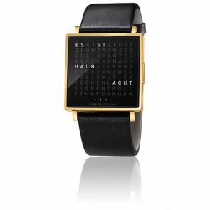 Reloj Qlocktwo W Gold Polished