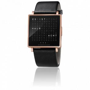 Reloj Qlocktwo W Rosa Gold Brushed