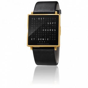 Reloj Qlocktwo W Gold Brushed