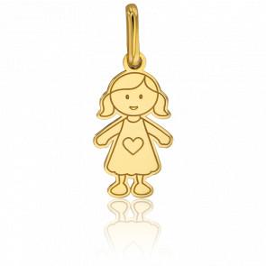 Colgante Niña Modelo Pequeño Oro Amarillo 18kt